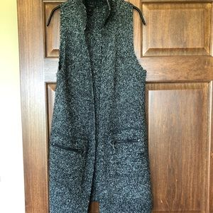 Ann Taylor factory tunic open sweater